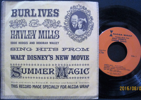 Burl Ives and Hayley Mills - Sing Hits From Disney's Summer Magic Alcoa Wrap Ep PS