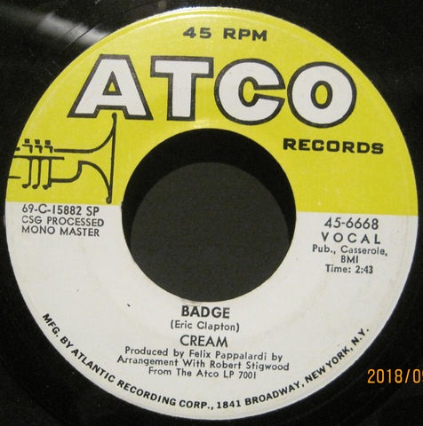 CREAM - Badge b/w What A Bringdown