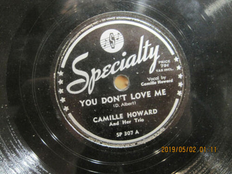 Camille Howard - You Don't Love Me b/w X-Temperaneous Boogie
