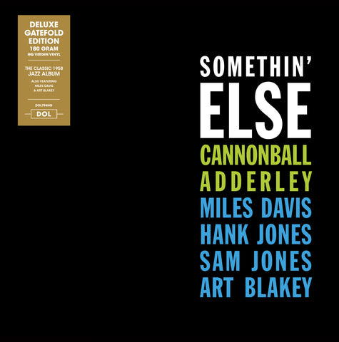 Cannonball Adderley - Somethin' Else 180g import w/ exclusive gatefold jacket