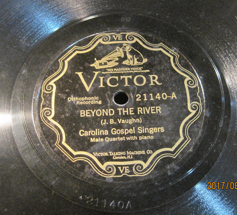 Carolina Gospel Singers - Beyond The River b/w Jesus Paid It All