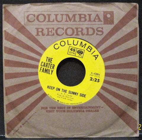Carter Family - Keep On The Sunny Side b/w Fair and Tender Ladies