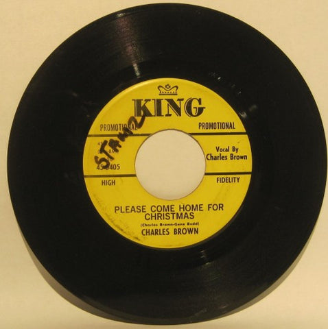 Charles Brown - Please come home for Christmas/ Christmas (Comes but once a year)