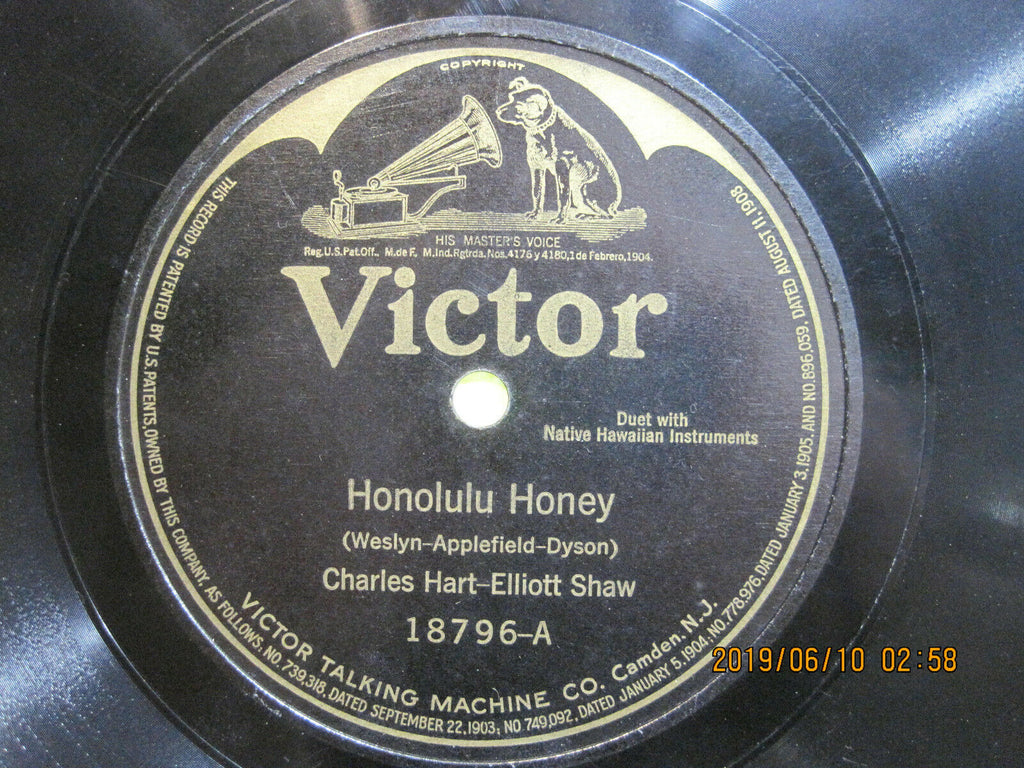 Charles Hart & Elliott Shaw - Honolulu Honey b/w Sweet Hawaiian Girl of Mine