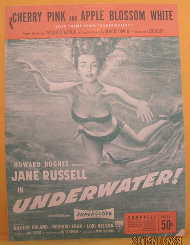 Cherry Pink and Apple Blossom White - 1950 Sheet Music - Jane Russell