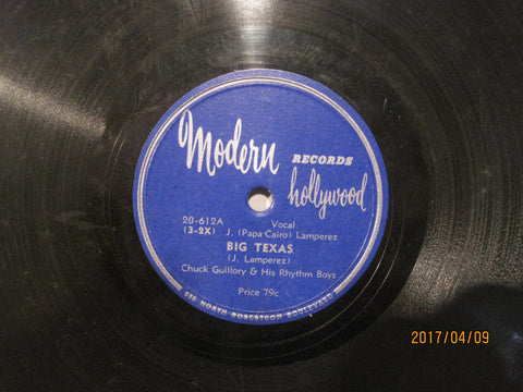 Chuck Guilory & His Rhythm Boys - Big Texas b/w Chere Petite