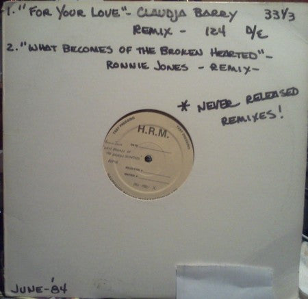 Claudja Berry & Ronnie Jones - For Your Love (Unreleased Mix) / What Becomes of the Broken Hearted (Unreleased Mix)