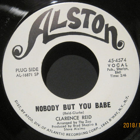 Clarence Reid - Nobody But You Babe b/w Send Me My Money Back  PROMO