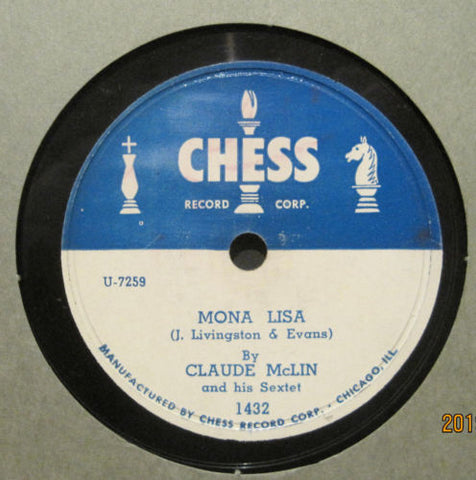 Claude McLin and His Sextet - Mona Lisa b/w Benny's Bounce