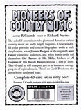 Pioneers of Country Music Trading Cards - R. Crumb: artist