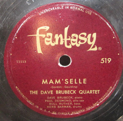 Dave Brubeck Quartet - Mam'selle b/w Me and My Shadow