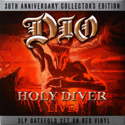 Dio - Holy Diver LIVE - Limited 3 LP set on RED Vinyl 30th Anniversary Collectors Edition