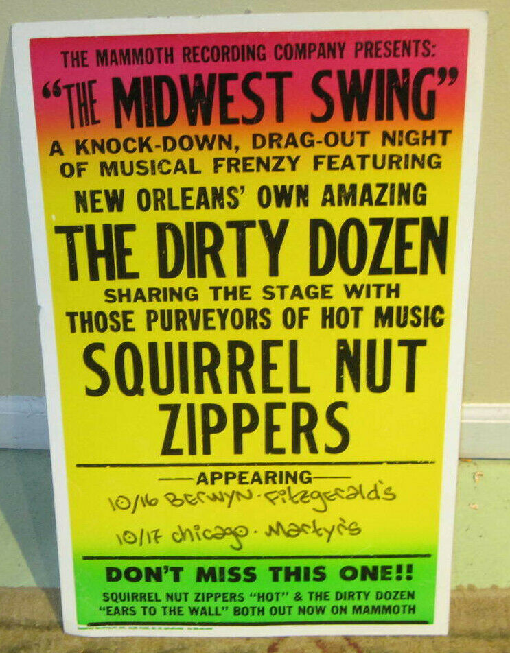 Dirty Dozen Brass Band & The Squirrel Nut Zippers Original Boxing Style Poster
