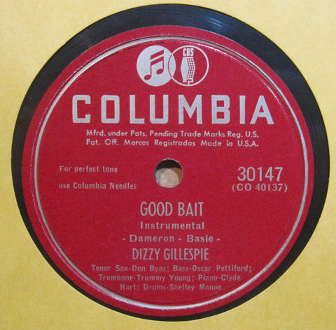 Dizzy Gillespie - I Can't Get Started b/w Good Bait