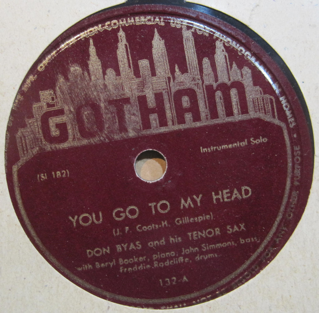 Don Byas - You Go To My Head b/w Don't You Know I Care