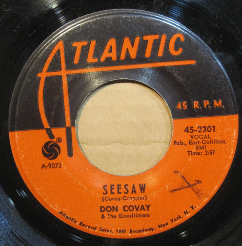 Don Covay & The Goodtimers - SEESAW b/w I'll Never Get Enough of Your Love