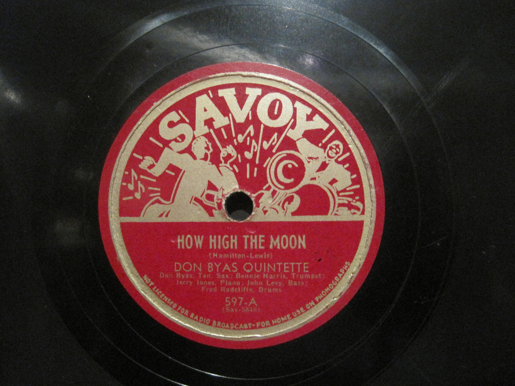 Don Byas - How High The Moon b/w Ko Ko - Charlie Parker