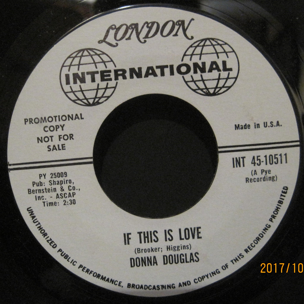 Donna Douglas - The Message In A Bottle b/w If This Is Love PROMO
