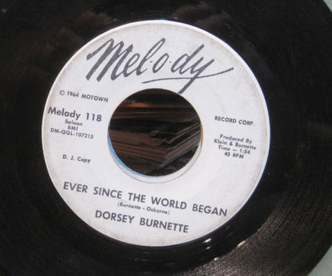 Dorsey Burnette - Ever Since The World Began b/w Long Long Time Ago