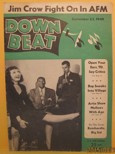 Down Beat - Sept 23, 1949 Reinhardts, Big Sid Catlett