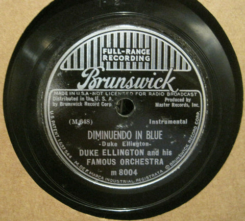 Duke Ellington - Diminuendo in Blue b/w Crescendo in Blue