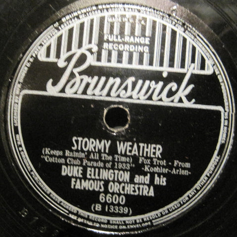 Duke Ellington - Stormy Weather b/w Sophisticated Lady