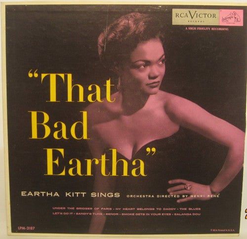 Eartha Kitt - That Bad Eartha 10""
