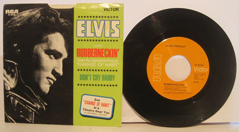 Elvis Presley - Rubberneckin' b/w Don't Cry Daddy  PS