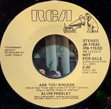 Elvis Presley - Are You Sincere / Solitaire w/ PS - PROMO