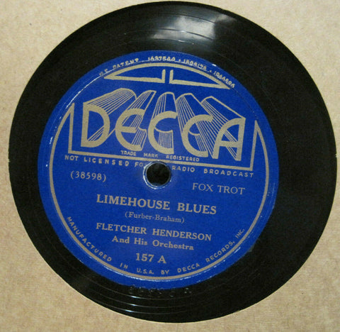 Fletcher Henderson - Limehouse Blues b/w Wrappin' It Up