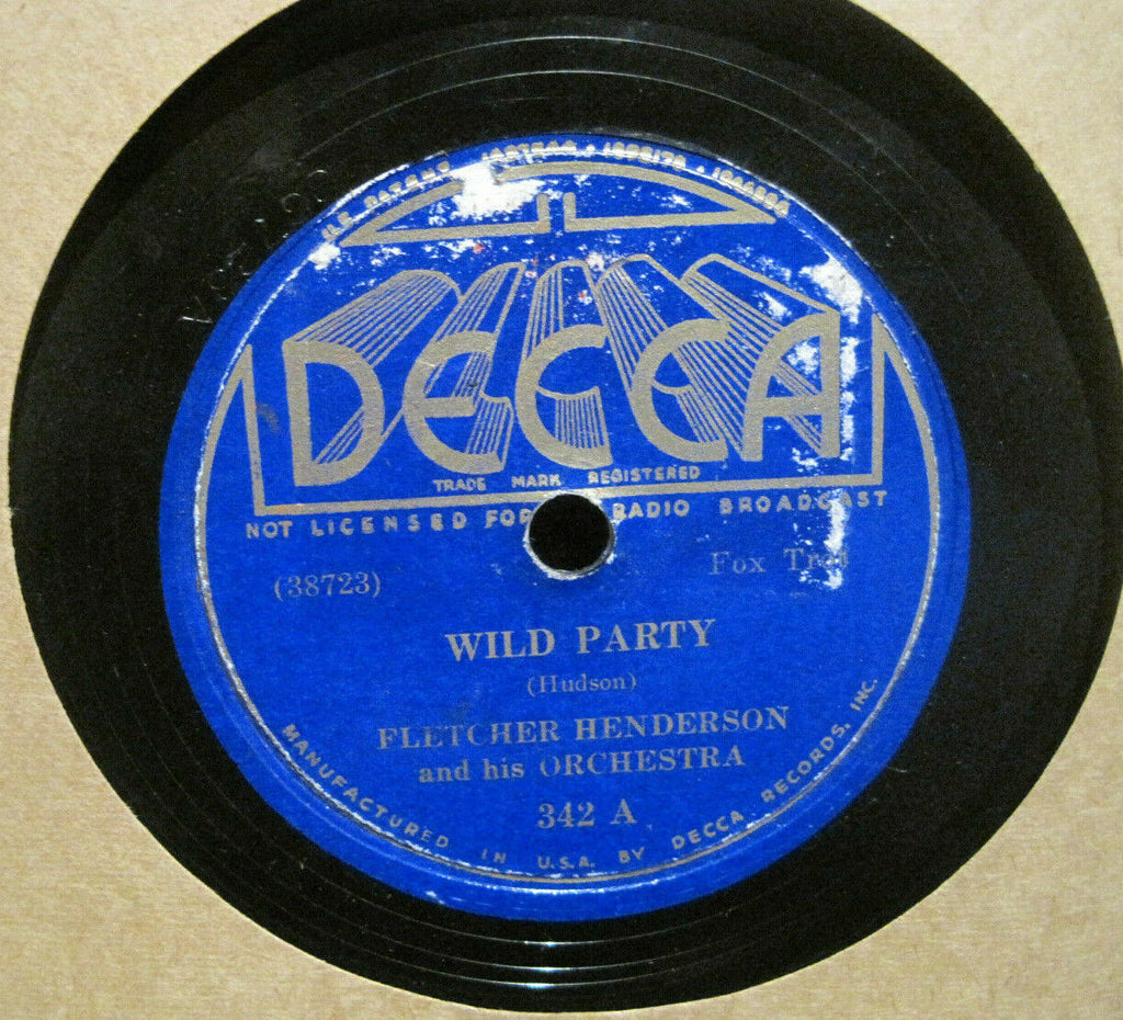 Fletcher Henderson - Wild Party b/w Rug Cutter's Swing