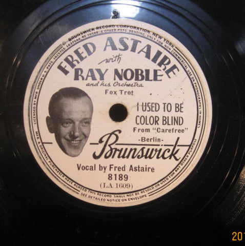 Fred Astaire -  Used To Be Color Blind b/w Change Partners