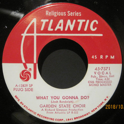 Garden State Choir - What You Gonna Do? b/w World Situation  PROMO