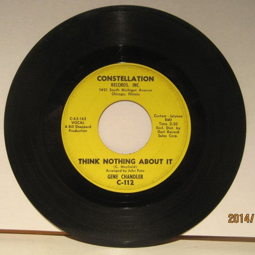 Gene Chandler - Think Nothing About It/ Wish You Were Here