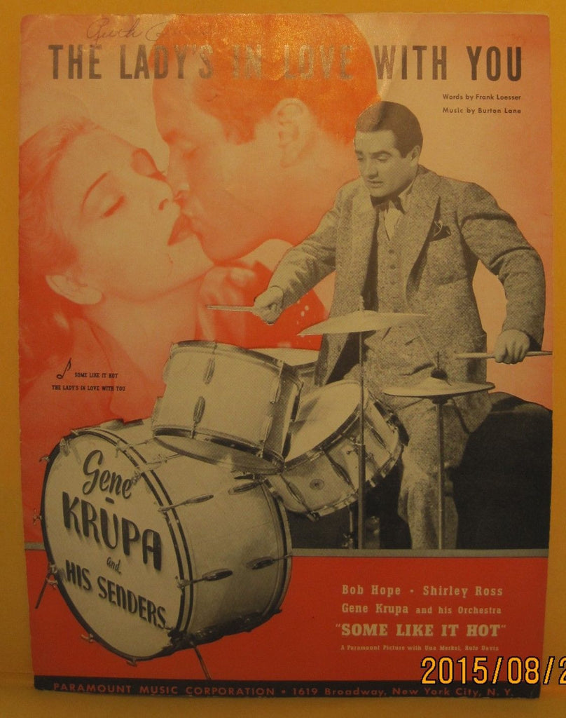The Lady's in Love with You - 1939 Sheet Music - Gene Krupa