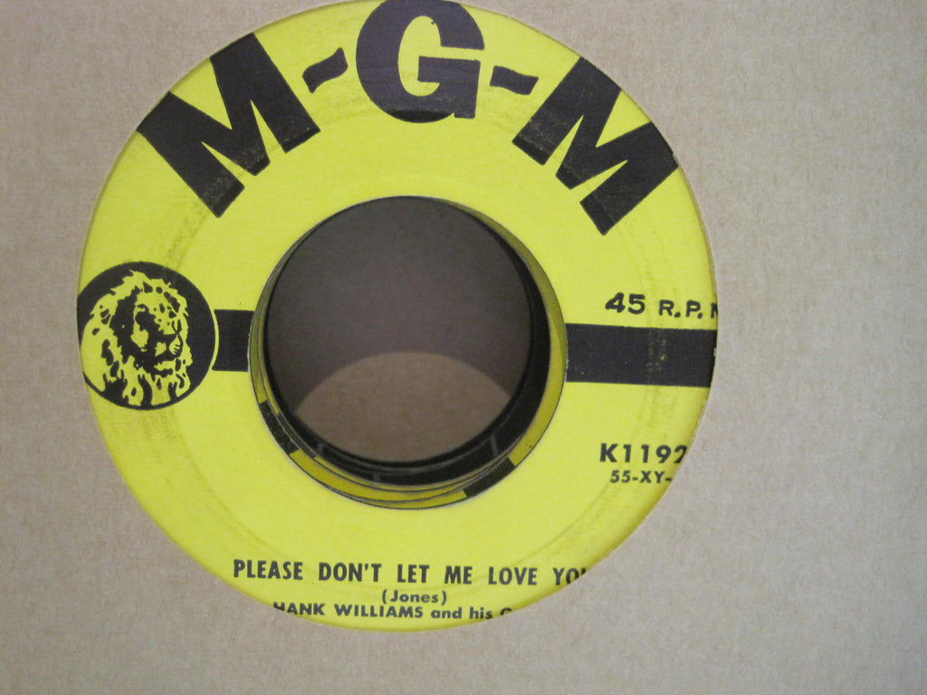Hank Williams - Please Don't Let Me Love You b/w Faded Love and Winter Roses