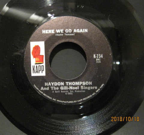 Haydon Thompson - Here We Go Again b/w 16.88