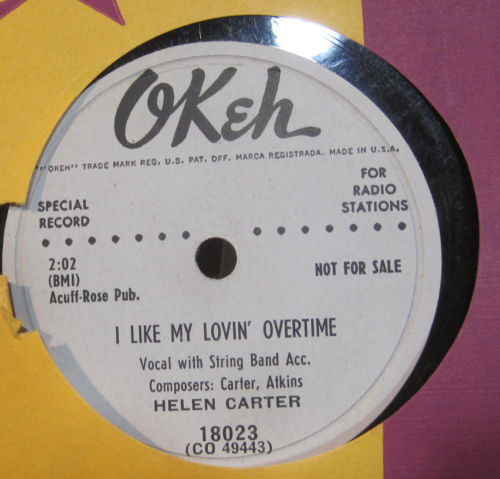 Helen Carter - I Like My Lovin' Overtime b/w You're Right
