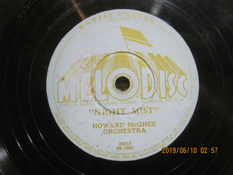 Howard McGhee & His Orchestra - Night Mist b/w Abernathy's Voo-it Voo-it
