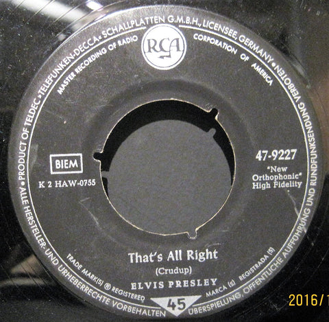 Elvis Presley - That's All Right b/w You're A Heartbreaker