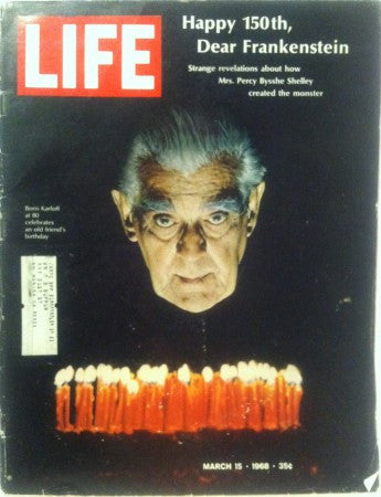 Life - Mar 15, 1968/ Boris Karloff at 80