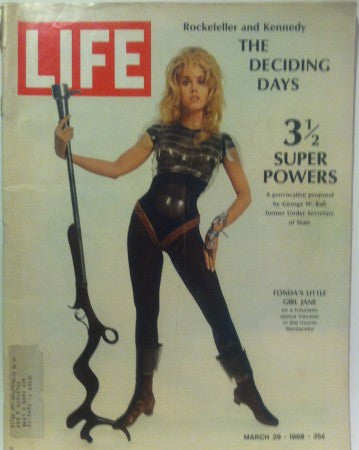 Life - Mar 29, 1968/ Jane Fonda in Barbarella