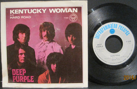 Deep Purple - Kentucky Woman b/w Hard Road w/ PS