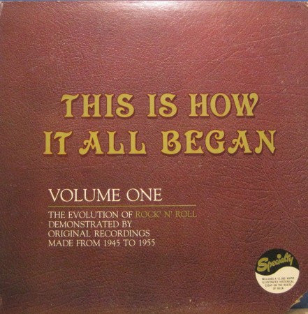 Various - This Is How It All Began Volume 1