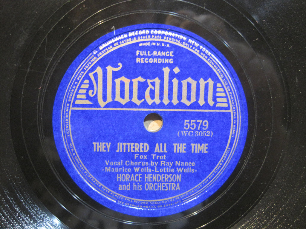 Horace Henderson & His Orchestra - They Jittered All The Time b/w Honeysuckle Rose