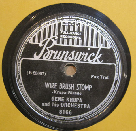 Gene Krupa & His Orchestra - Wire Brush Stomp b/w What Goes on Here