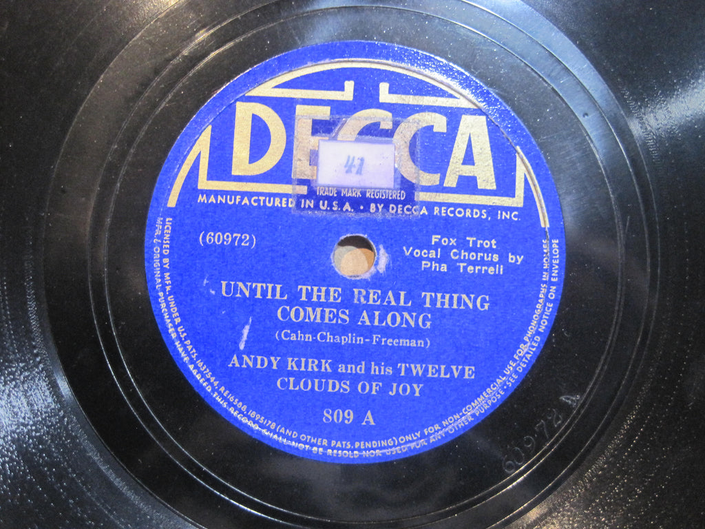 Andy Kirk & His Twelve Clouds of Joy - Until The Real Thing Comes Along b/w Walkin' and Swingin'