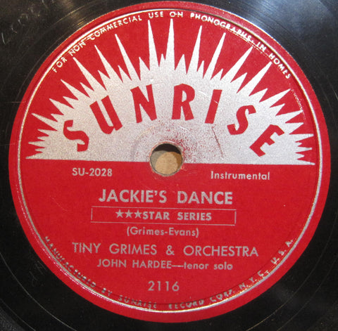 Tiny Grimes - Jackie's Dance b/w Earl Hines Combo - Blues For Garroway