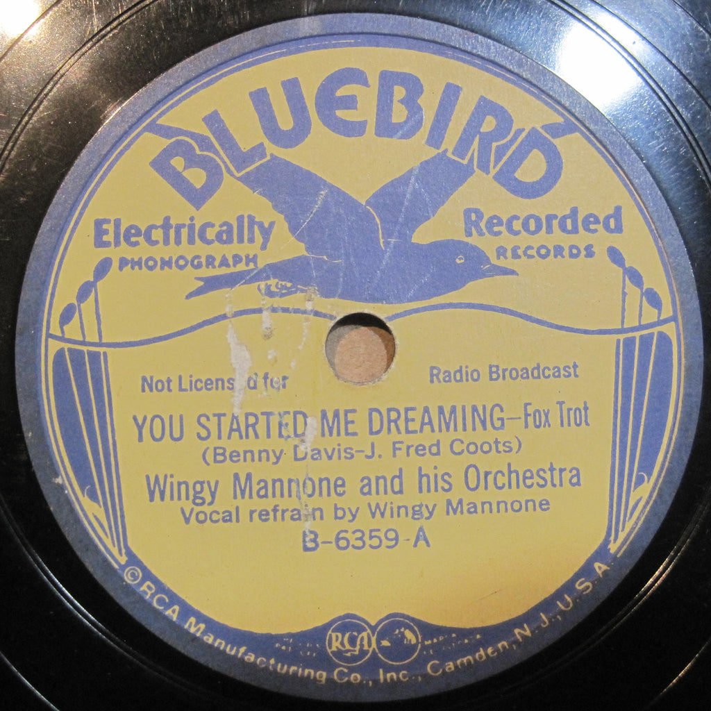 Wingy Mannone - You Started Me Dreaming b/w Tormented