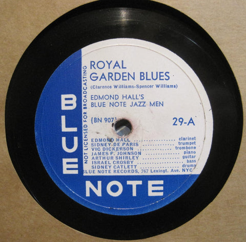 Edmond Hall Blue Note Jazz Men - Royal Garden Blues b/w Night Shift Blues